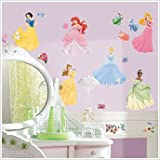 DISNEY PRINCESS 37 Wall Stickers Room Decor Decals CINDERELLA ARIEL BELLE