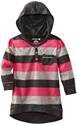 One Step Up Little Girls' Bright Stripe Hoodie