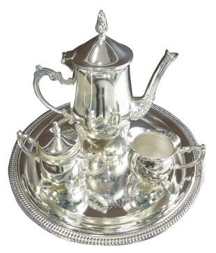 Silver Spirit Silver Plated Tea Set(22*10*22 cm ,Silver)
