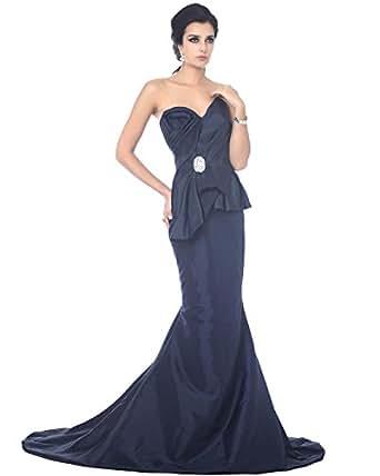 Amazon.com: Vampal Navy Blue Taffeta Mermaid Sweetheart