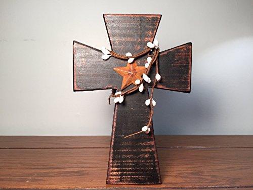 pine-cross-black-paint-red-mahogany-stain-white-pip-rusty-star