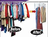 5 PACK LARGE VACUUM SEAL HANGING GARMENT BAGS - SPACE SAVER SAVING SUIT STORAGE BAG