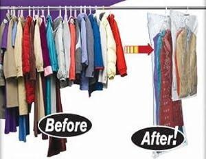 Amazon Com 5 Pack Large Vacuum Seal Hanging Garment Bags