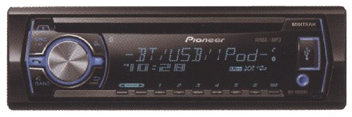 Pioneer Deh-X6500Bt Mobile Single Din In Dash Cd/Mp3 Receiver With Bluetooth, Mixtrax And Pandora