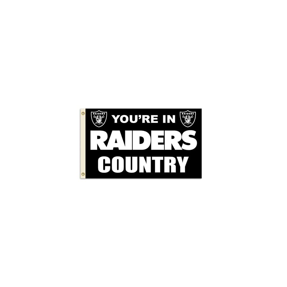 BSS   Oakland Raiders NFL Youre in Raiders Country 3x5 Banner Flag