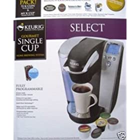 Keurig Single Serve Gourmet Coffee & Tea Brewing System Includes 72 K-Cups and My K-Cup Reusable Filter