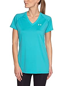 Under Armour Women's UA Tech™ Short Sleeve V-Neck Extra Small AQUEDUCT