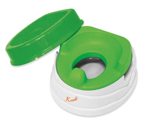 Deluxe Soft Potty Trainer & Step Stool (GREEN)