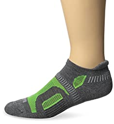 Balega Hidden Contour Socks, Charcoal/Neon Green, Small