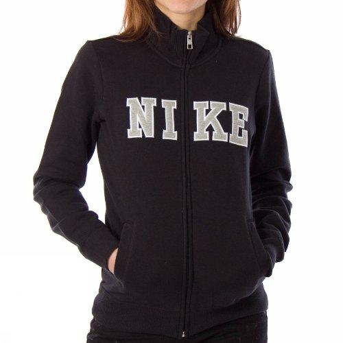 Nike Classic - Felpa sportiva da donna, in pile, Nero (nero / bianco), S