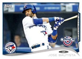 2014 Topps Opening Day #166 Jose Bautista - Toronto Blue Jays (Baseball Cards)