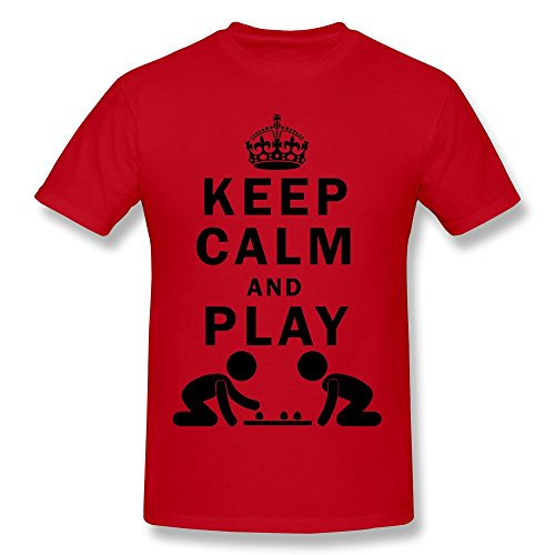 FZLB Men's Keep Calm And Play Board Games T-Shirt XX-Large Red (Piano By Number For Kids compare prices)