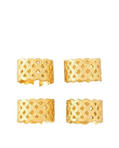 Shiraleah Set of 4 Filigrann Napkin Rings