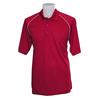 Piped Raglan Performance Pique Polo Shirt from Jockey, BALTIC, SM