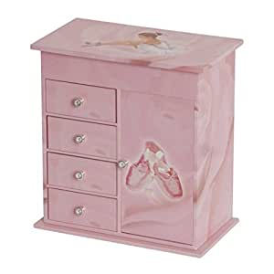 Amazon.com: Callie Pink Ballerina Ballet Shoes Music Jewelry Box