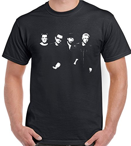 U2 - Mens T-Shirt DTGX3 - Black,