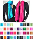 Solid Color Satin Scarf