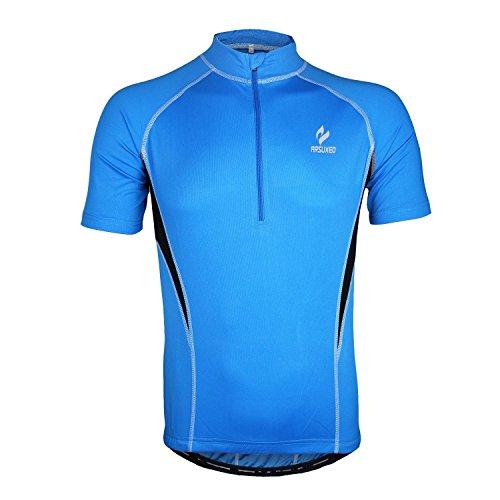 M, Baxter corsa bici sportiva a maniche lunghe da uomo Shirt Bike T-shirt maglia a maniche corte ciclismo-Shirt