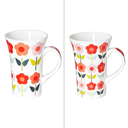 TABLE PASSION - COFFRET DE 2 MUGS XL 55 CL FLEUR DAISY ASSORTIS
