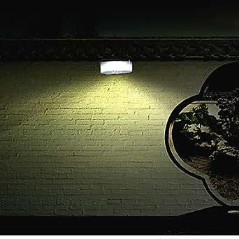 Modern Rechargeable LED Solar Wall Light Garden Wall