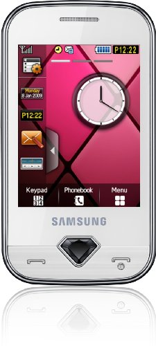 Samsung Glamour S7070 Smartphone (Touchscreen, 3,2MP Kamera, Social-Networking-Dienste) pearl-white