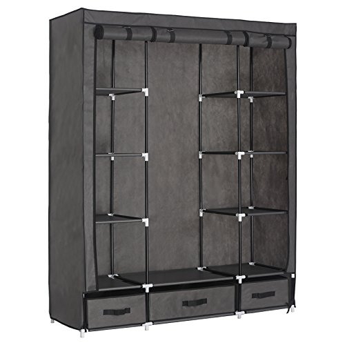 12 Inspirations For Home Improvement With Spanish Home: WOLTU Portable Clothes Cabinet Cube Wardrobe Storage