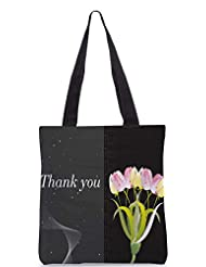 Snoogg Abstract Floral Vector With Place For The Text Design Designer Poly Canvas Tote Bag - B012FUDNR4