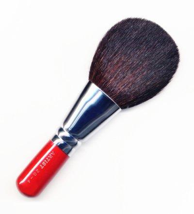 竹宝堂化粧筆 パウダーブラシ 20ー4 赤軸 熊野筆