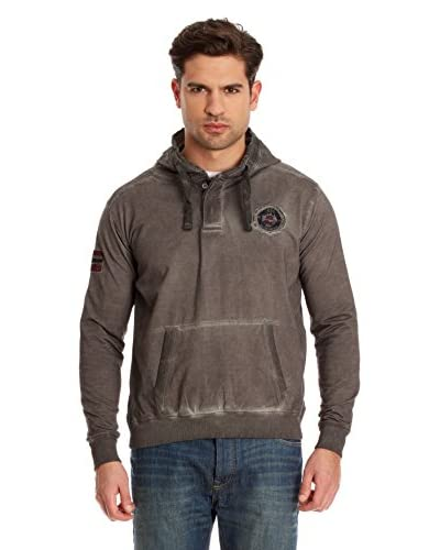 Geographical Norway Sudadera con Capucha Gackintosh Gris Oscuro