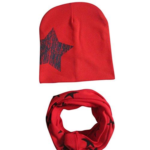 bambini bambino bebè cappello sciarpa ragazzi ragazze sciarpa bambino sciarpa Cappelli Berretti (Rosso)