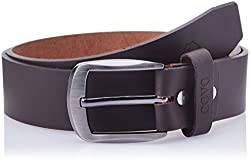 Covo Brown Leather Men's Casual Belt (BJ40PB31038)