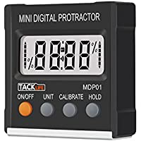 Tacklife MDP01 Classic Digital Angle Gauge Level / Protractor / Angle Finder with Magnetic Base Battery