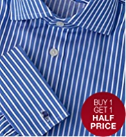 2in Shorter Sartorial Pure Cotton Striped Shirt