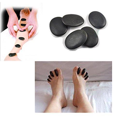 Lifetop 7pcs /lot Massage Hot Stones Massage Lava Natural Stone Set Hot Spa Rock Basalt Stone (Hot Oil Warmer compare prices)