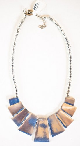 Zad Fashion Inc Silver Metal Segment Necklace