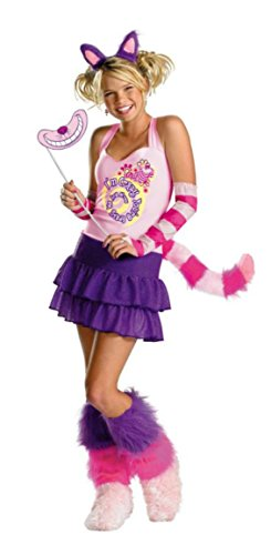 Girls The Cheshire Cat Adult Kids Child Fancy Dress Party Halloween Costume