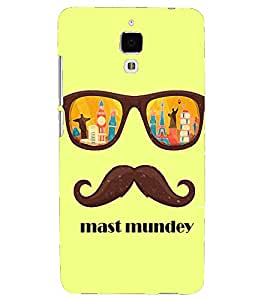 PRINTSHOPPII MAST MUNDAY Back Case Cover for Xiaomi Redmi Mi4::Xiaomi Mi 4