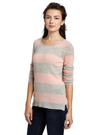 (历史最低)美国羊绒品牌 Christopher Fischer 女式100%纯羊绒条纹毛衣 多色 $56.10