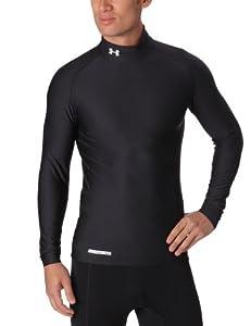 Under Armour Herren Shirt CG Compression Evo Mock, Black/White, S