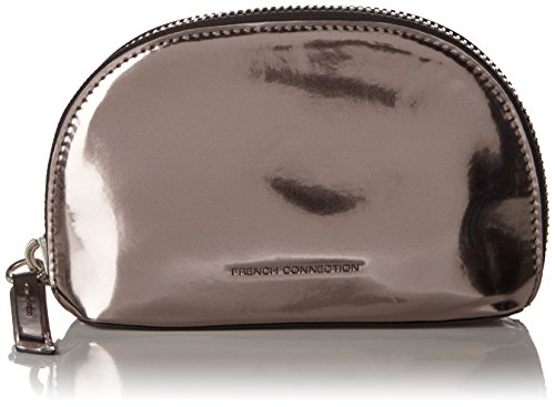 french-connection-super-zip-pu-suki-cosmetic-bag-pochettes-femme-argent-silber-high-shine-pewter-2-2