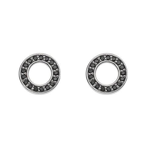 emozioni-nero-saturno-sterling-silver-earrings