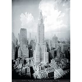New York City (Chrysler Building) Black Wood-Mounted Art Poster Print - 16