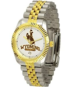 University of Wyoming Cowboys Mens Two Tone Gold Dress Watch by SunTime