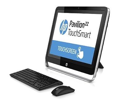 "HP 22-2002nl All-in-One PC, 21.5"" Touchscreen, Intel Pentium 2.5 GHz, RAM 4 GB, HDD SATA da 500 GB, Intel Graphic HD, Nero/Argento"