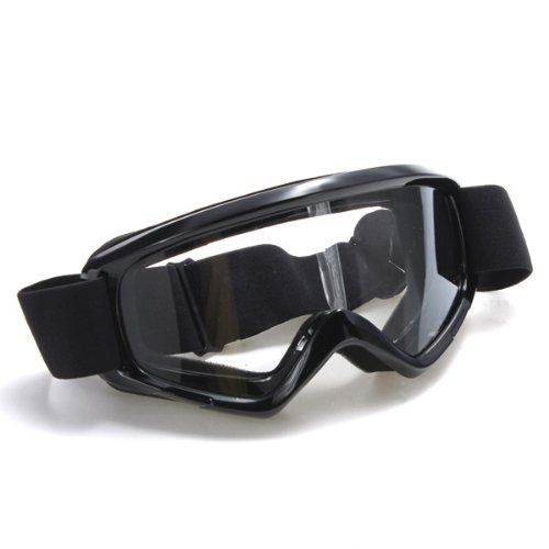 FamilyMall(TM) Helmet Goggle Sport Ski Scooter Bike MTB BMX ATV Motocross MX Racing Offroad Black