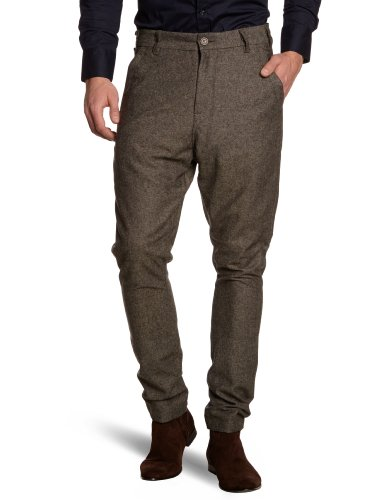 Selected Homme Jeans Leo Anti-Fit Chino C Relaxed Men's Trousers Brown W36INxL32IN