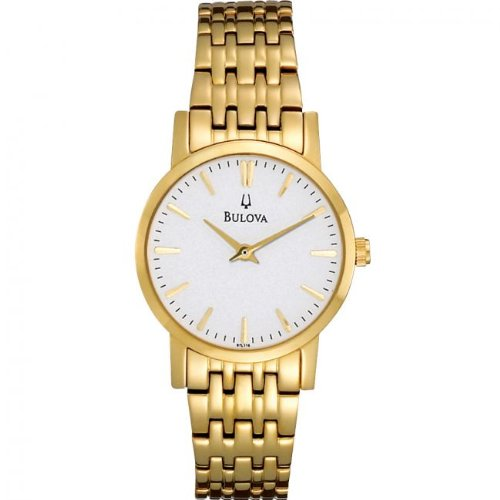Bulova 97L116 Ladies Gold Plated Dress Watch
