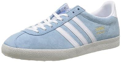 Adidas Men's Gazelle OG, BLUE/WHITE, 7.5 M US | Amazon.com