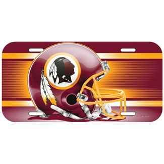 NFL Washington Redskins License Plate, Team Color, One Size (Sports Team License Plate Frames compare prices)