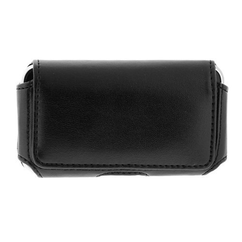 Black Horizontal Large Slim Pouch Carrying Case For Verizon Motorola Droid A855 Cell Phone